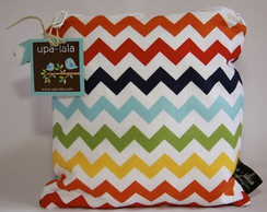 Wet Bag or Eco-bag Small - Waterproof - Chevron Rainbow