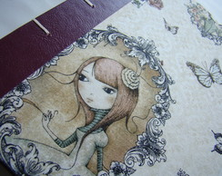 "Cuaderno ""Romantic Girl"""