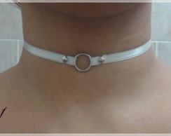 """Simple grey V2"" Choker (gargantilla)"