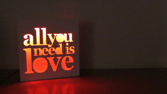 Velador LED All you need is love - LaitO