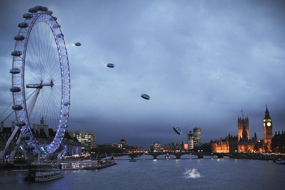 London Eye volador