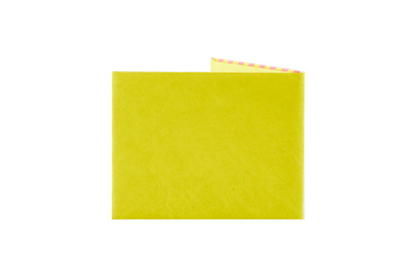 BILLETERA DE PAPEL TYVEK AMARILLO FLUO