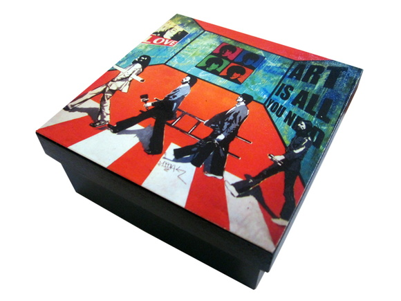 Caja Decorativa The Beatles Mural Arte U