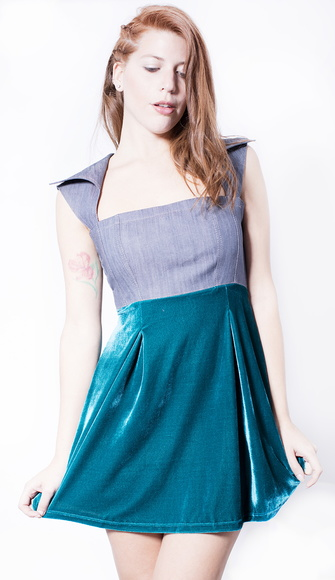 Vestido Isabel - Denim Green -