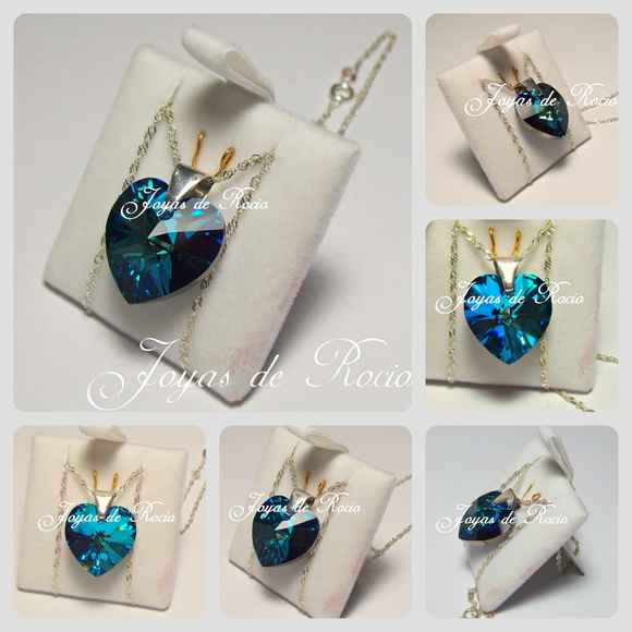 Corazon 18mm Bermuda Blue swarovski