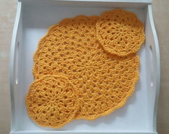 Bandeja y Set crochet