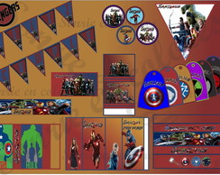 Kit imprimible Candy cumple Avengers