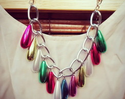 COLLAR GOTAS MULTICOLOR