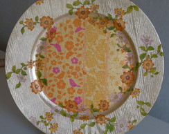 Plato de Sitio Decorativo - Dorado