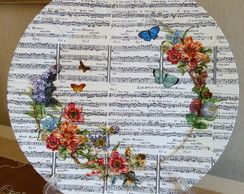 Plato de Sitio Decorativo-Music & Flower