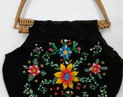 Cartera bordado mexicano