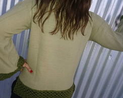 Sweater mix de texturas