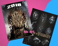 Agenda Imprimible 2018 Game of Thrones - GOT - Exclusiva