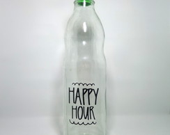 "Botella de vidrio 1 litro ""Happy Hour"""