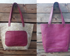Tote Bag de cuero reversible