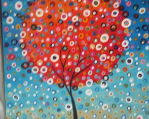 arbol-color-puntillismo