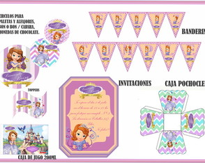 Kit Candy cumple Princesita Sofia