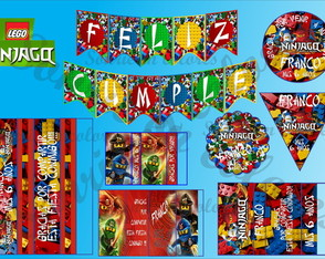 Kit imprimible Candy cumple Lego