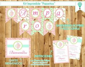Kit Imprimible Pajaritos Shabby Chic!