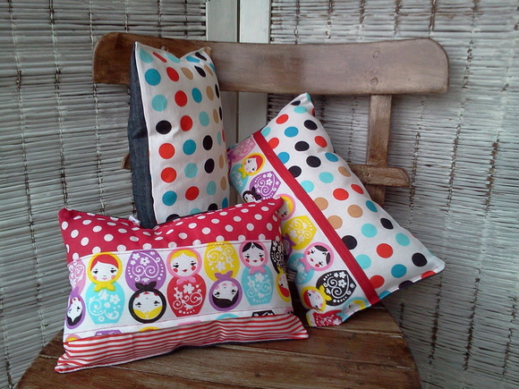 Almohadones decorativos patchwork
