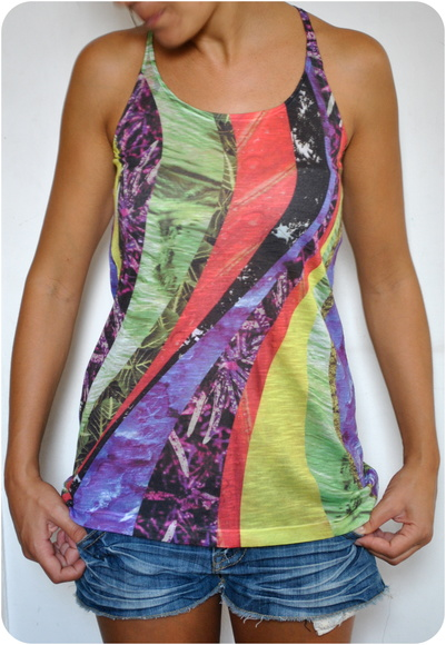 Musculosa larga, estampa exclusiva