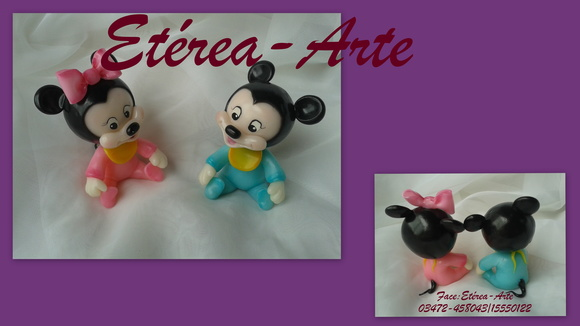 Mickey y Minnie Bebés