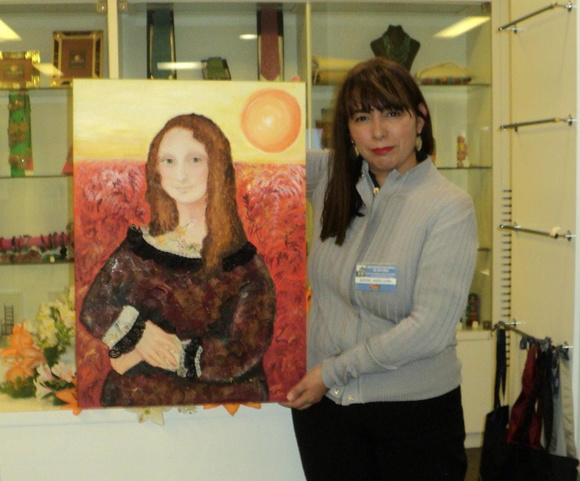 Gioconda en relieve.