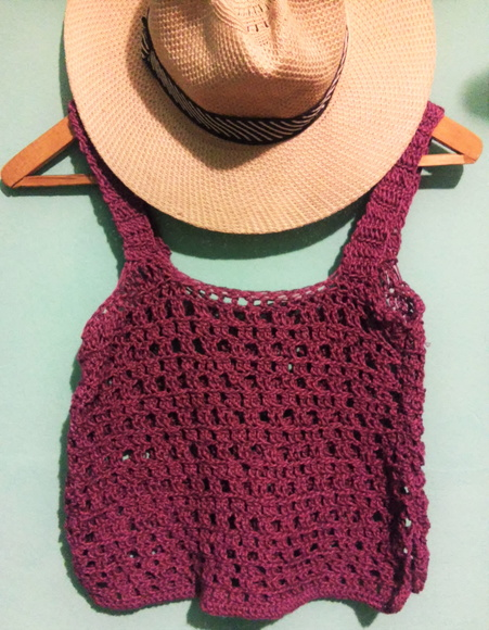 Top Violeta Crochet