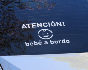 "Sticker Calco Vinilo ""Bebé a Bordo"""